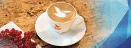 Cup of coffe from the brand Pelican Rouge